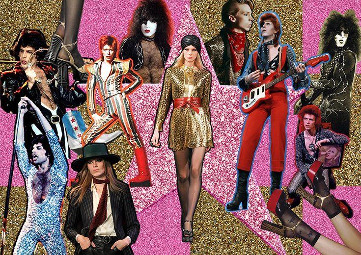 THE FASHION SUNDAE: Holiday Inspiration: 70's Glam Rock