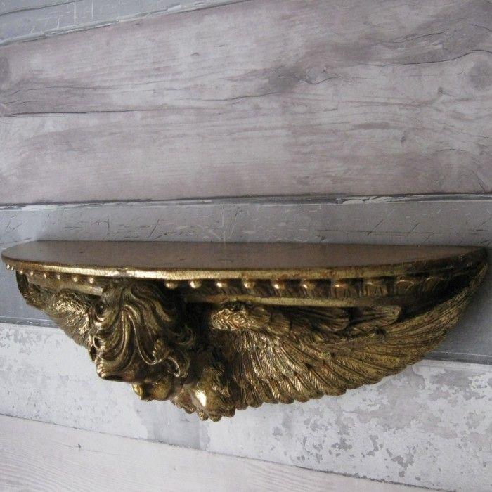 Antique Style Angel Wall Shelf Decor