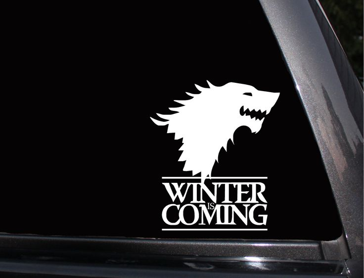 Winter Is Coming, Stark Direwolf Vinyl Decal, Phone Decal,Laptop Decal, Wall Decal,Car Decal
