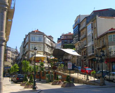 Between the old district and the marina of Vigo