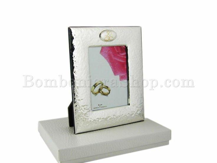 Cornice portafoto in laminato argento per 50° anniversario