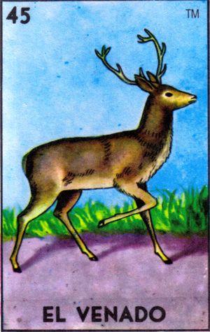 loteria, mexican, el venado, deer - Loteria Mexicana - Mexican Bingo