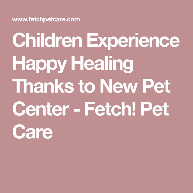 Children Experience Happy Healing Thanks to New Pet Center - Fetch! Pet Care