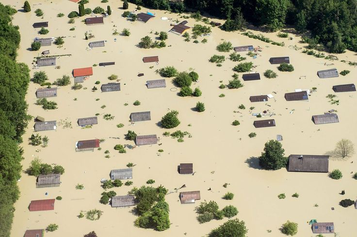 Aerial Views of Severe Flooding in Central Europe