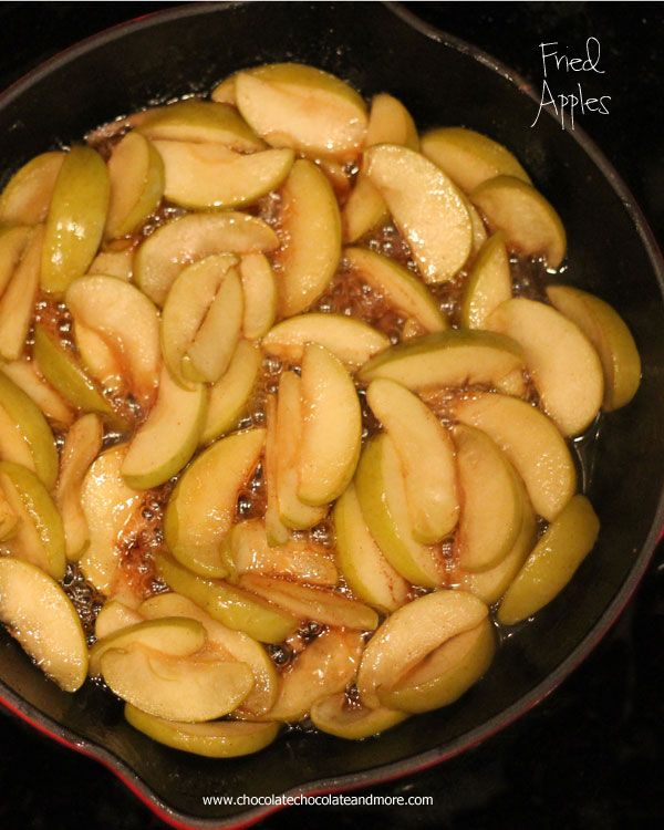 Fried Apples-just a few simple ingredients, butter, brown sugar cinnamon and apples fried up southern style!