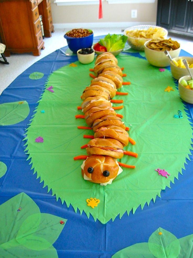 Caterpillar sandwich idea for Noah's 1st Birthday Very Hungry Caterpillar Theme