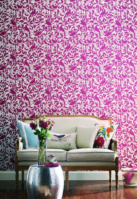 Colourful Wallpaper. Waverly Cottage. Rasch Textil. WIrz Tapeten AG