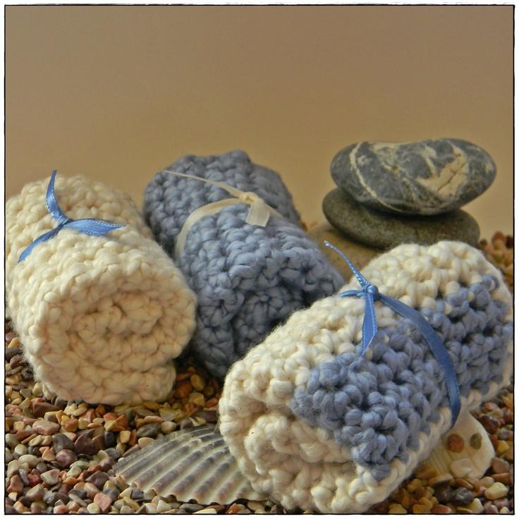 Organic Cotton Crochet Dishcloth/Washcloth Set by BackyardDreams