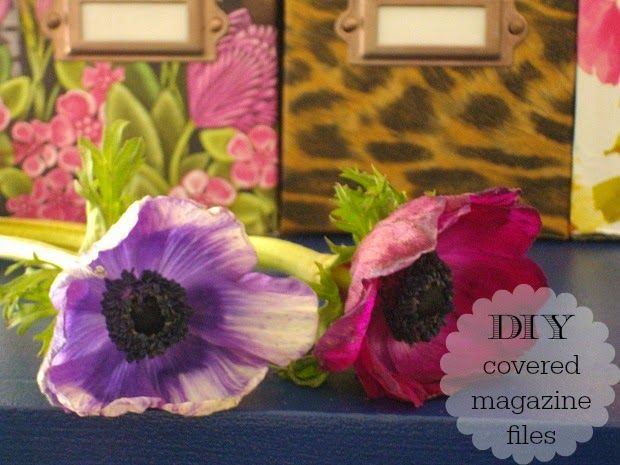 Art Decoration and Crafting: DIY covered magazine files