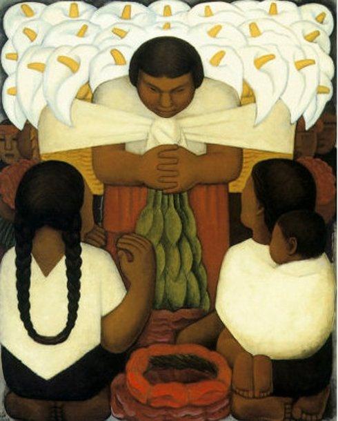 Flower Day, Diego Rivera