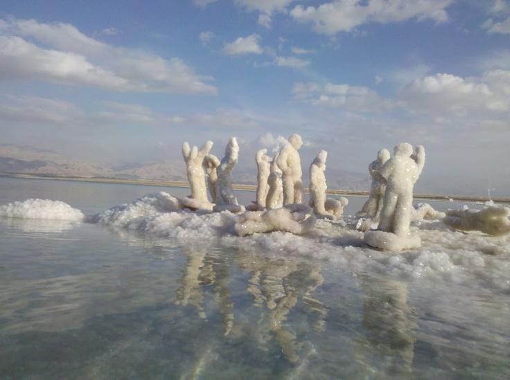 Dead Sea Salt Sculptures by Anat Eshed Goldberg