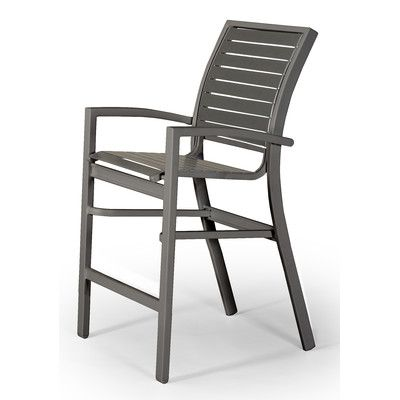 Telescope Casual Kendall Contract Strap Stacking Balcony Chair Finish: Textured Desert, Strap Color: Desert