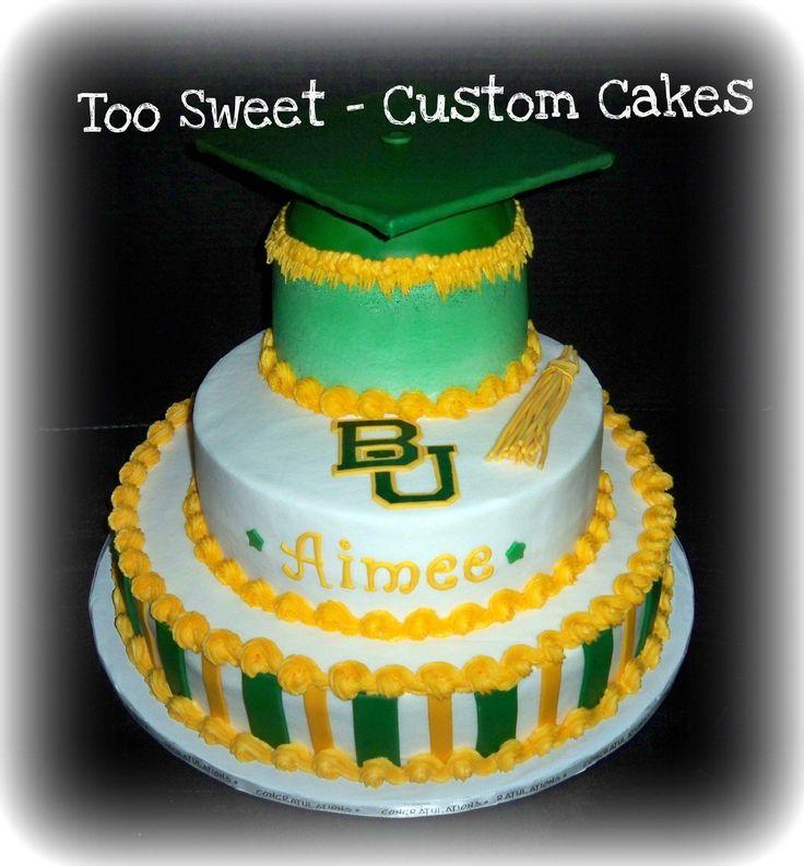 Impressive #Baylor graduation cake!
