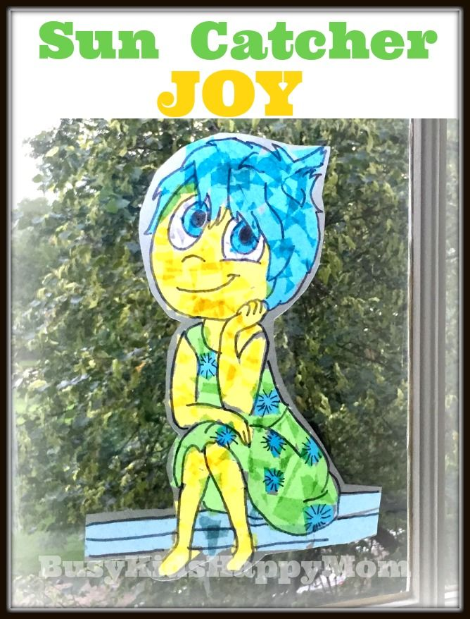Busy Kids Happy Mom Tissue Paper Sun Catcher By Tracing A Coloring Page Easy
