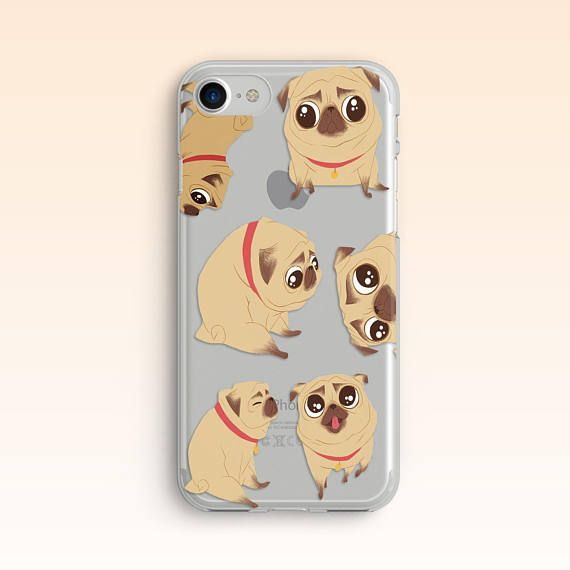 Pug iPhone 7 Case iPhone 5 Pugs Case for Samsung S7 Case for Samsung Galaxy S8 Puppy Case iPhone 6 Case iPhone 6S Case Cute Dog Case 058