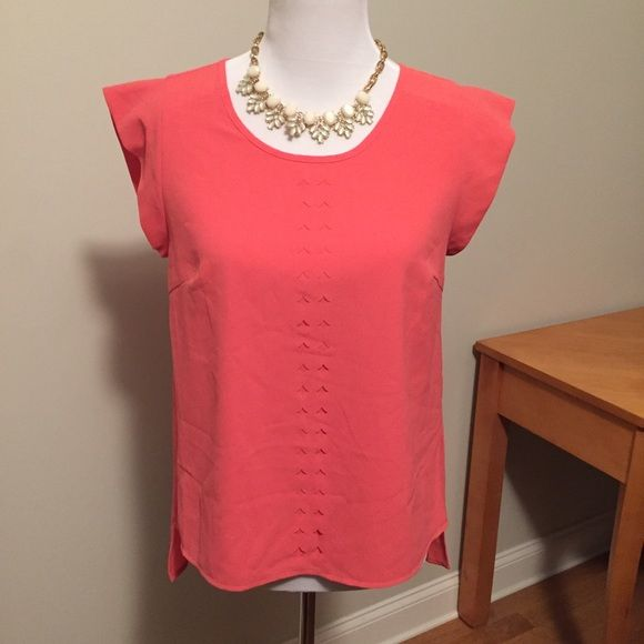 HOST PICK  Stitch Fix coral top Beautiful coral top received from Stitch Fix. Super unique find, not available online. Very pretty detail. 100% poly. In excellent condition, barely worn. Brixon Ivy Tops