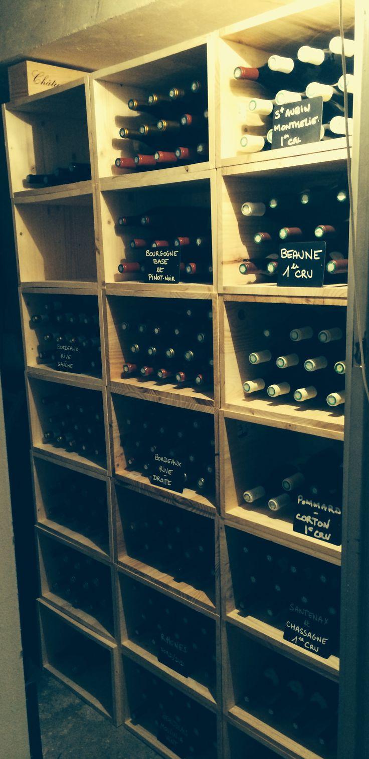 Cave casier a vin bois final termine 100%