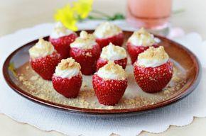 Gevulde aardbeien cheesecake - Culinaire tips