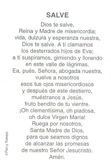 Oración: Salve | Directorio de la Iglesia Católica