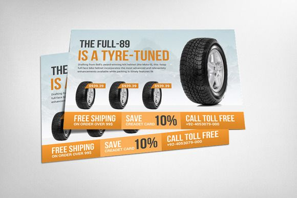 Tyre Shop Flyer Template by Business Templates on @creativemarket