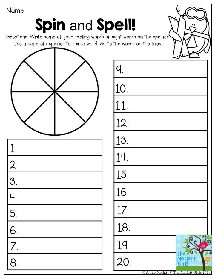 Spin And Spell This Is Such A Fun Activity To Include In