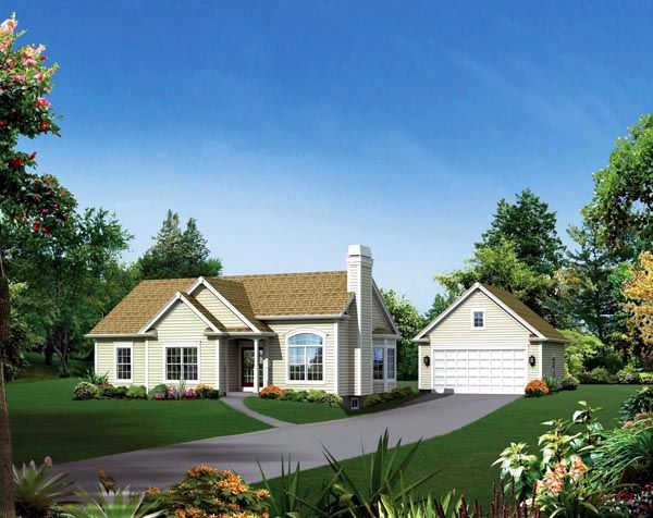 Cape Cod Country Ranch Traditional House Plan 95896