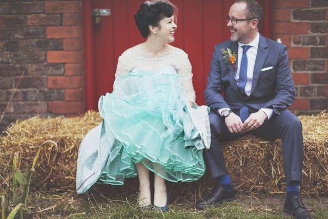 50's wedding with a twist