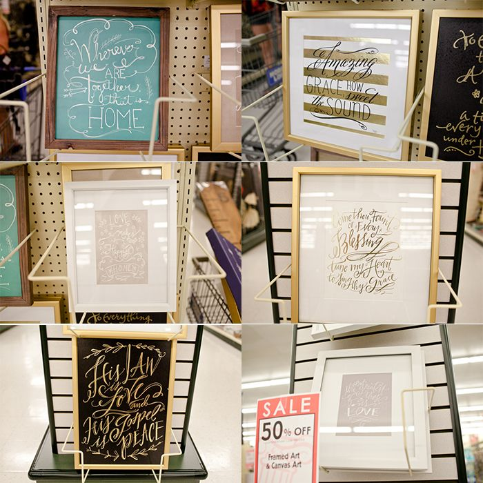 Hobby Lobby Wall Art | These amazing pieces can all be found on sale at Hobby Lobby right now! Gold foil prints and Lindsay Letters prints!