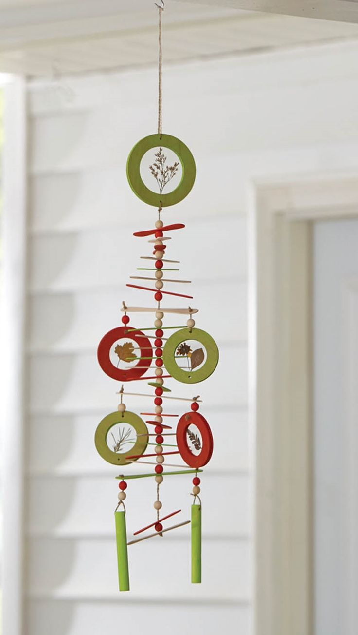 We made it by jennifer garner wind chime summer craft for Wind chime craft projects