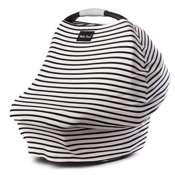 Milk Snob Cover MILKY STRIPE. Perfect nursing/car seat cover.