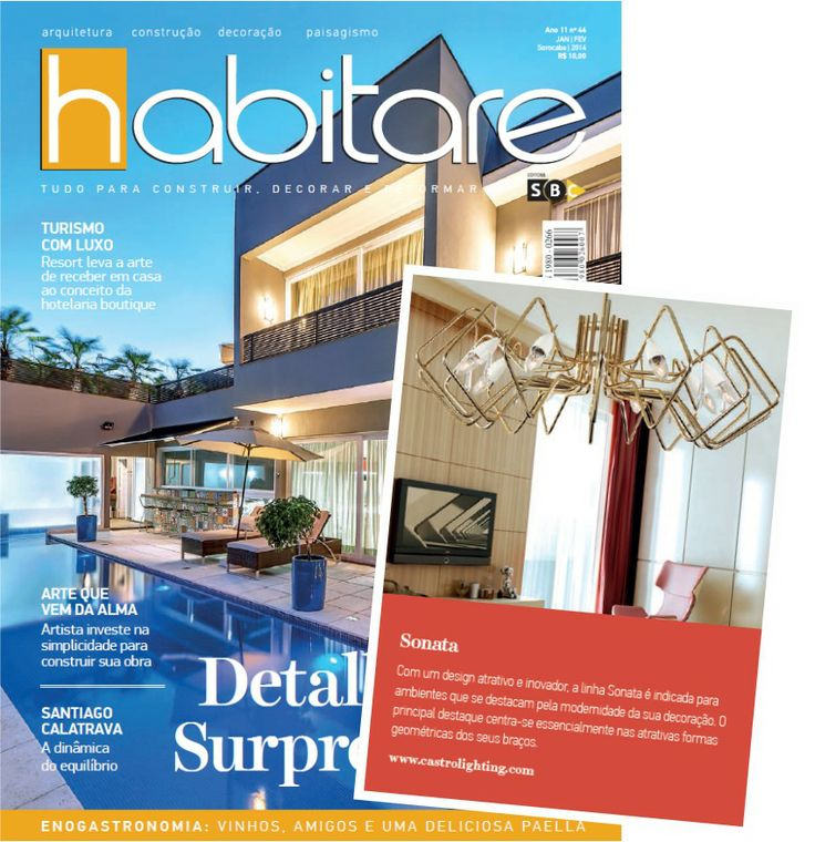 GREAT NEWS!  Our Ceiling lamp Sonata was highlighted at habitare decor magazine. You can see more on www.revistahabitare.com.br