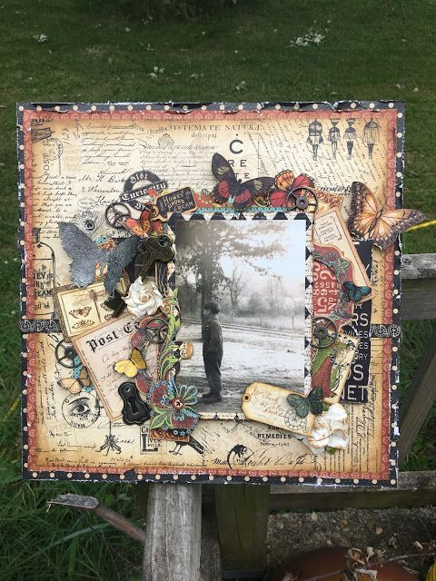 Old Curiosity Shoppe Scrapbook Canvas