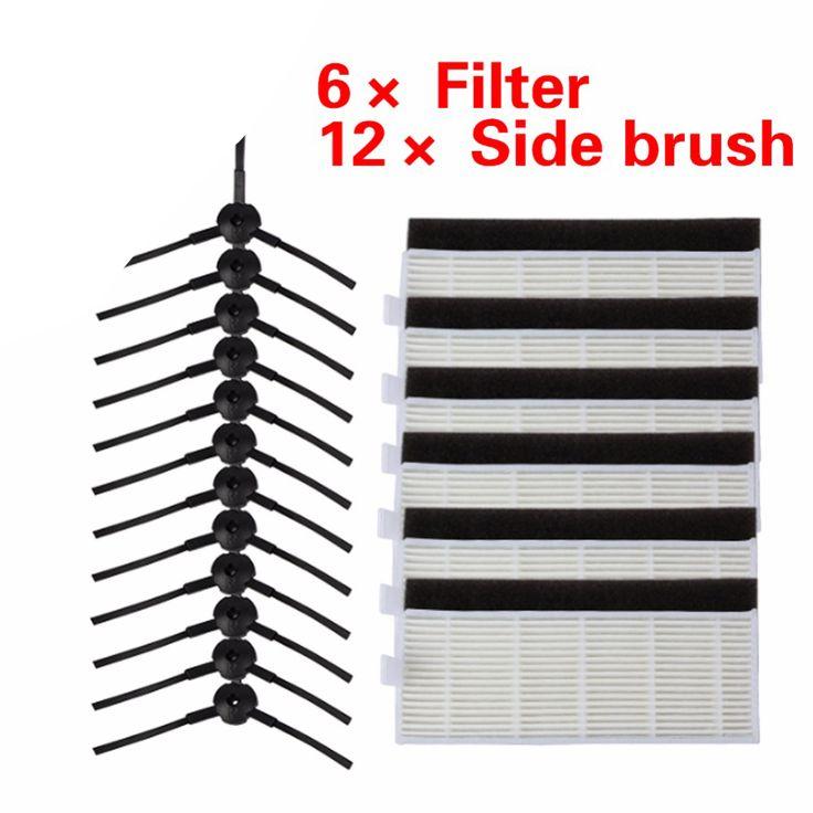 24 pcs/set kualitas Tinggi Sikat & Filter untuk ILIFE ilife A4 A4 Robot Pembersih Penggantian chuwi Robot Vacuum Cleaner hepa filter