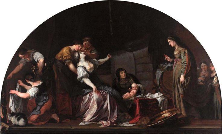 Karel Škréta: Narození sv. Václava, 1640, olej na plátně, © NG v Praze