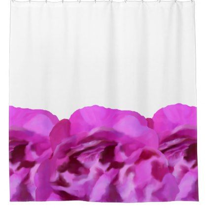 Floral Shower Curtain - purple floral style gifts flower flowers diy customize unique