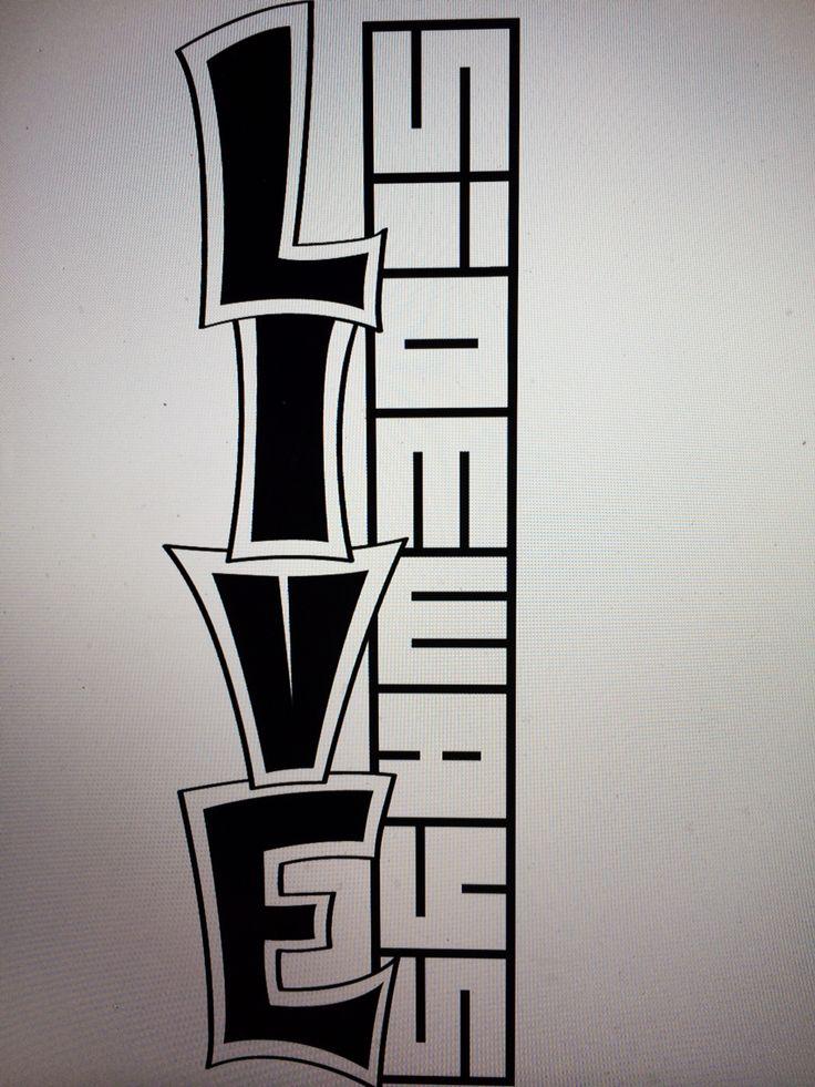 Live Sideways™ snowboard graphic design