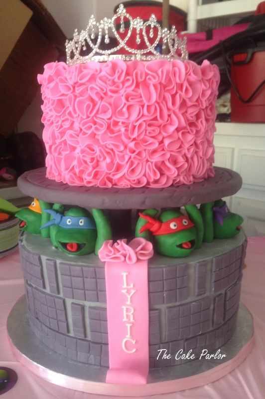 Teenage Mutant Ninja Turtle / Princess Cake / TMNT Cake for girls / Ninga Turtle Cake for girls