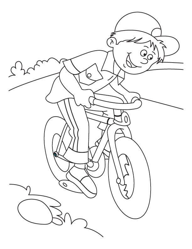 Mountain Bike Coloring Pages Concept