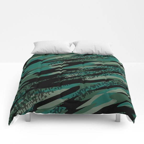 turquoise black and green camouflage abstract