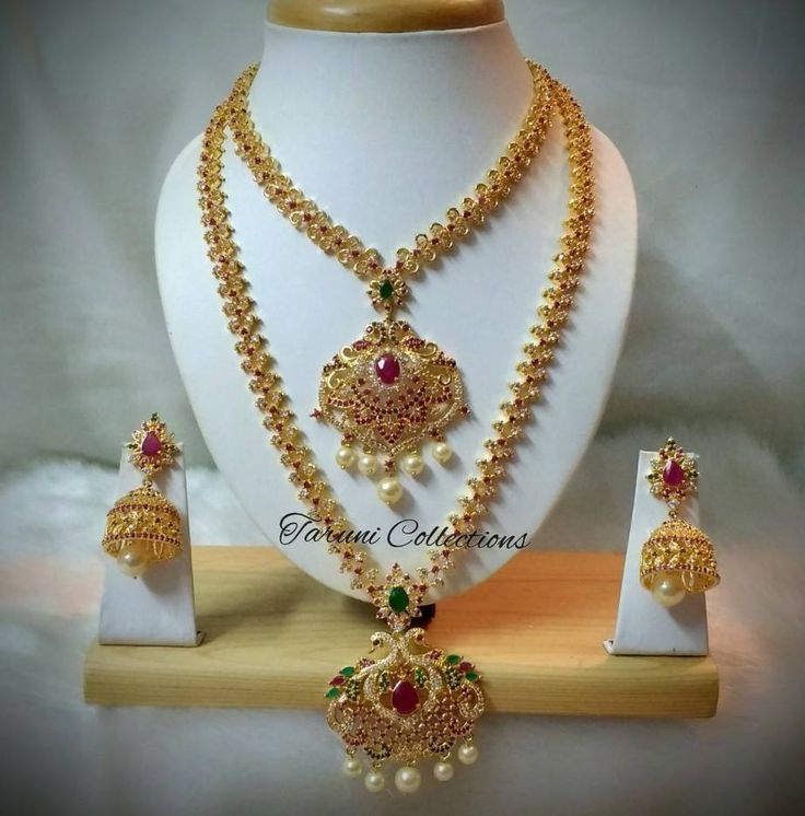 Taruni Jewelry Collections. <br>  Contact : 9963342790.