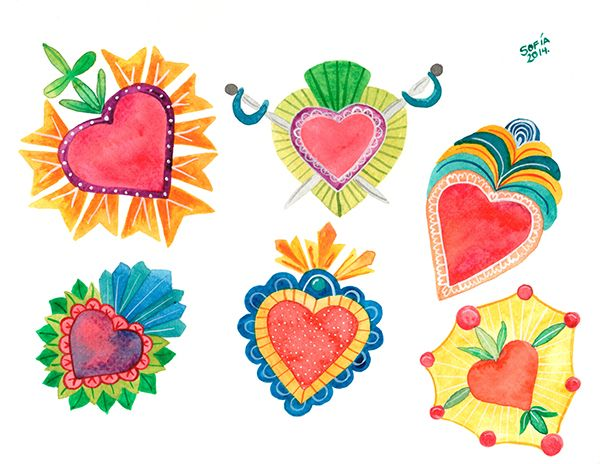 Corazones Mexicanos on Behance