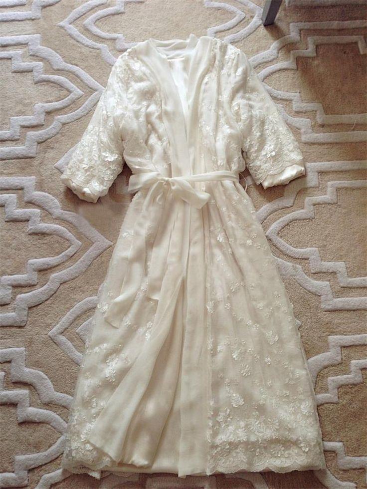 Nova Moda Rendas Noite Robe de Veludo Coral das Mulheres Engrossar Conjuntos de Pijama De Seda Longa Túnica Vestido Pricess Branco Sleepwear Noite Robe