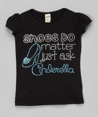 Shoes Do Matter Just Ask Cinderella Rhinestone Tee