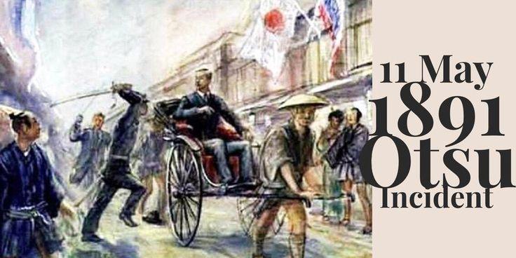 11 May 1891. Otsu Incident. Assassination attempt of future emperor Nicholas II