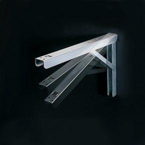 Folding Shelf Brackets-Select Option for a flip-up workstation? no room for an island....