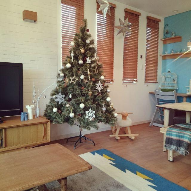壁/天井/リサラーソン/エコカラット/クリスマスツリー180cm/nico and...クリスマスツリー…などのインテリア実例 - 2015-12-02 13:52:11 | RoomClip(ルームクリップ)