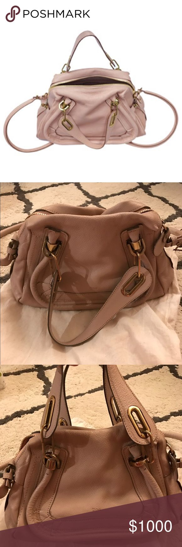 Chloe Paraty Anemone Pink Small Small Chloe Paraty in Anemone Pink. Few marks on the leather around and from the hardware which is common for this bag. Also, a few marks on the leather as shown in the pictures. The interior is very clean. Bag is in great and gently used condition. No trades. Chloe Bags