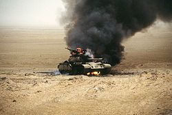 "Battle of 73 Easting. Described as ""the last great tank battle of the 20th century,"" this decisive, Feb 1991, battle of Operation Desert Storm was named after a map coordinate.  Four squadrons of the US Second Armored Cavalry Regiment fought elements of two Iraqi armored brigades.  US forces were outnumbered, but had better equipment, training, and access to air and artillery support. The four cavalry troops destroyed 160 tanks and 180 APCs for the loss of one Bradley IFV (lost to friendly…"