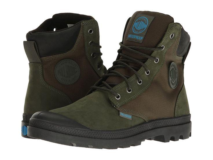 PALLADIUM PALLADIUM - PAMPA SPORT CUFF WPN (ARMY GREEN/BLACK) BOOTS. #palladium #shoes #