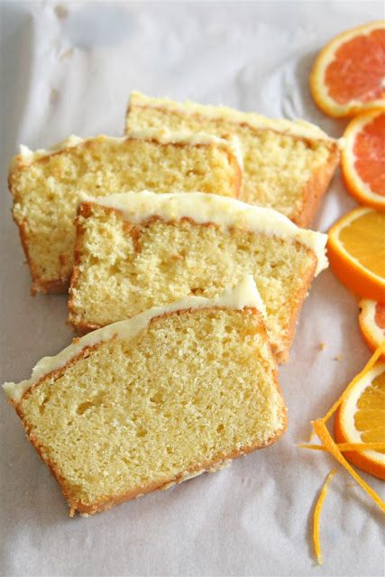 Orange Yogurt Cake with Orange icing. ~T~ I love this cake. Make it a day ahead so it reaches full flavor and the cake becomes firmer. The frosting is a must. As the blogger says it is best served cold.